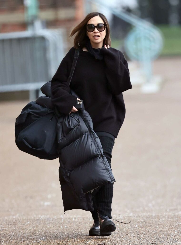 Myleene Klass in a Black Outfit