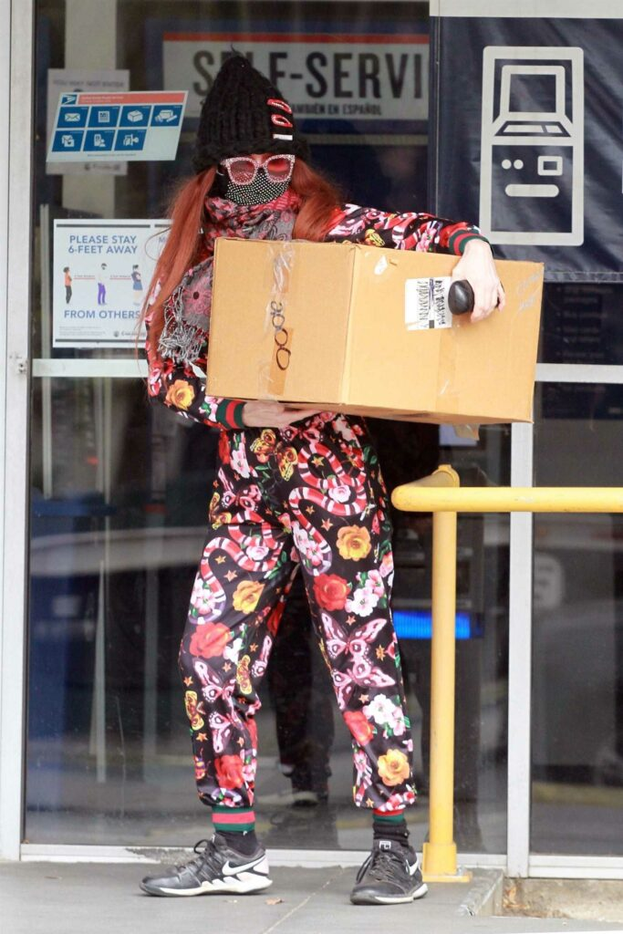 Phoebe Price in a Floral Print Sweatsuit