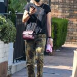 Pom Klementieff in a Camo Pants Heads to Melanie Grant's Clinic in Sydney
