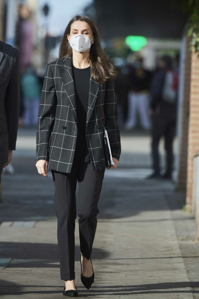 Queen Letizia of Spain in a Black Outfit