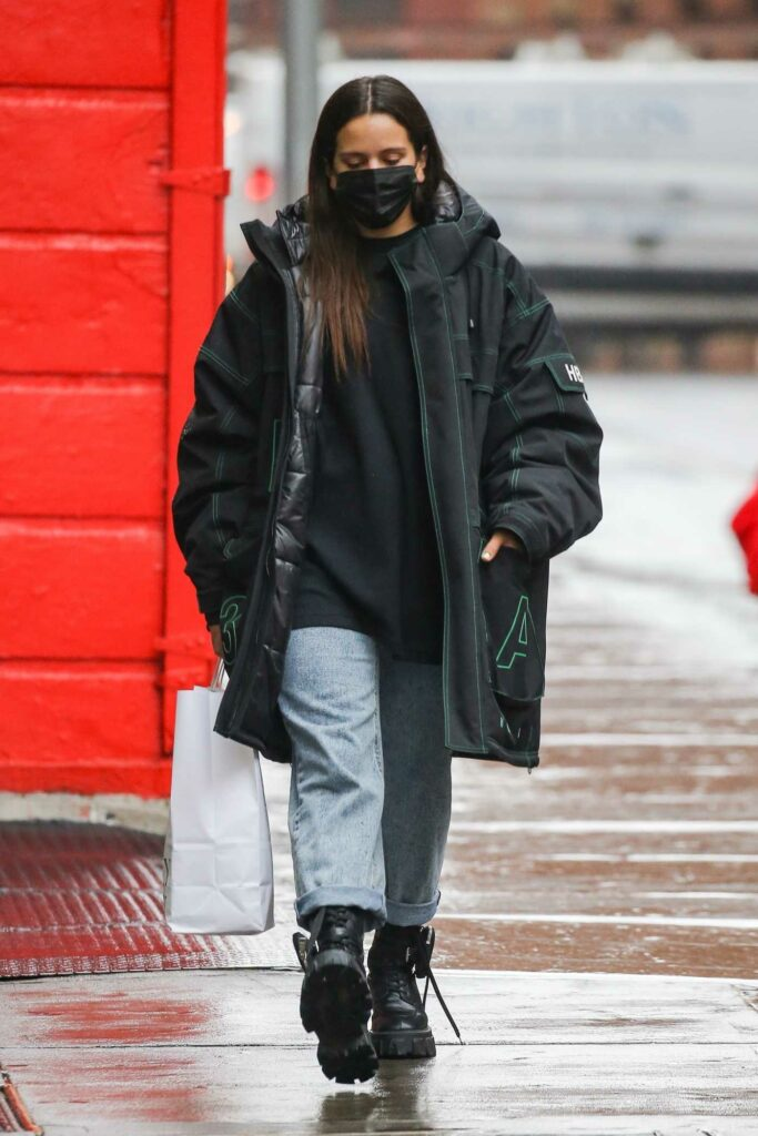 Rosalia in a Black Protective Mask