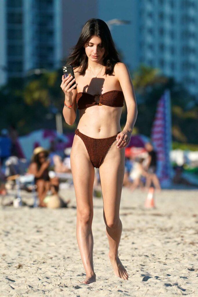 Samantha Blake Cohen in a Brown Bikini