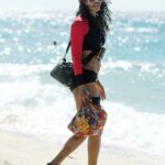 Sinitta Shows off Her Eclectic Style on the Beach in Barbados