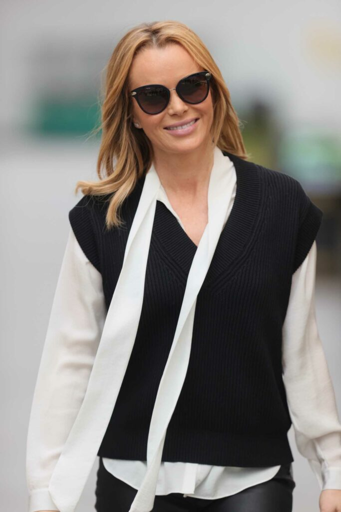 Amanda Holden in a White Blouse