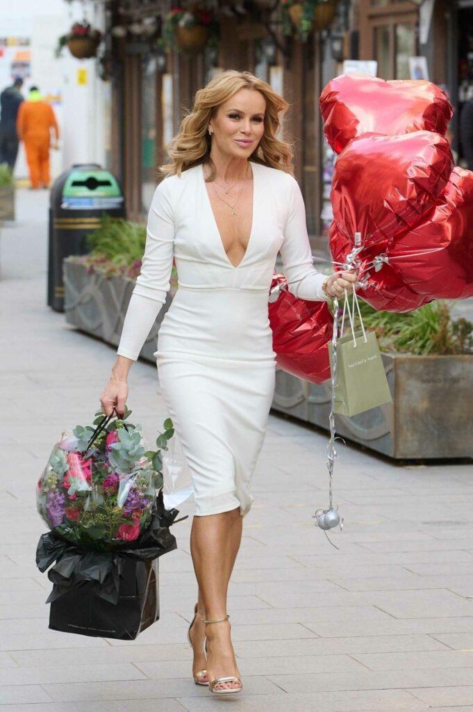 Amanda Holden in a White Dress