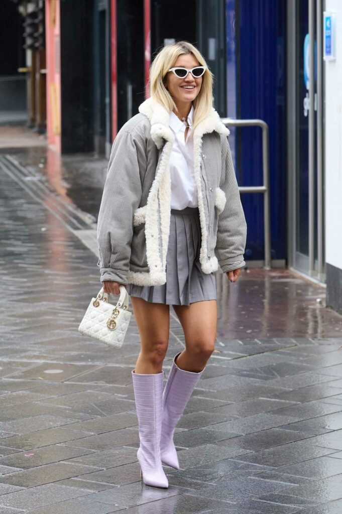 Ashley Roberts in a Grey Jacket