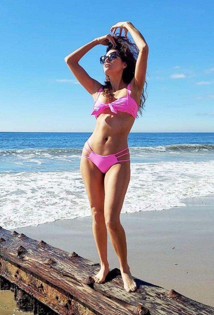 Blanca Blanco in a Pink Bikini