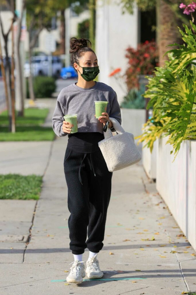 Cara Santana in a Black Sweatpants