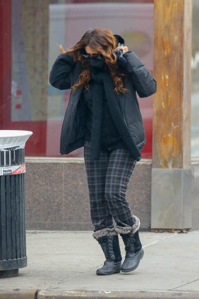 Chanel Iman in a Black Jacket