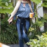 Cindy Crawford in a Blue Shirt Was Seen Out in Miami
