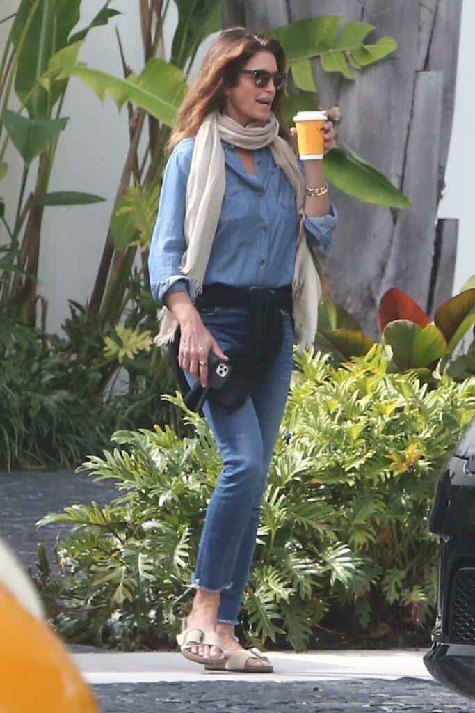 Cindy Crawford in a Blue Shirt