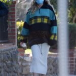 Elsa Hosk in a Protective Mask Was Spotted Out with Tom Daly in Pasadena