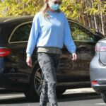 Emma Krokdal in a White Sneakers Leaves Trader Joe's Out with Dolph Lundgren in Hollywood