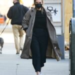 Georgina Burke in a Black Protective Mask Was Seen Out in New York
