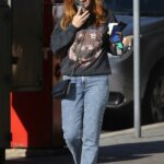 Isla Fisher in a Black Tiger Print Sweatshirt Was Seen Out in Sydney