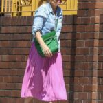 Isla Fisher in a Lilac Skirt Was Seen Out in Sydney