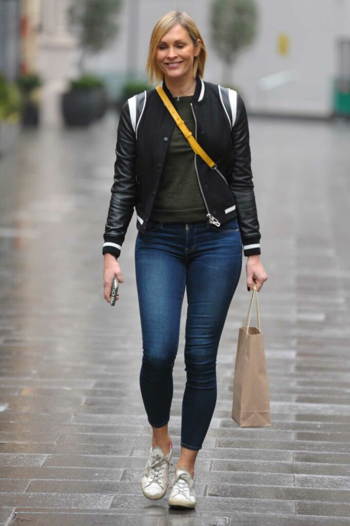 Jenni Falconer in a White Sneakers