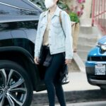 Kate Mara in a Black Leggings Was Seen Out in Silver Lake
