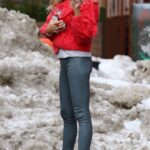 Kelly Bensimon in a Red Sweater Was Seen Out on Valentine's Day in New York
