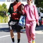 Lexy Panterra in a Pink Sweatsuit Was Seen Out with Alex Wassabi in Los Angeles