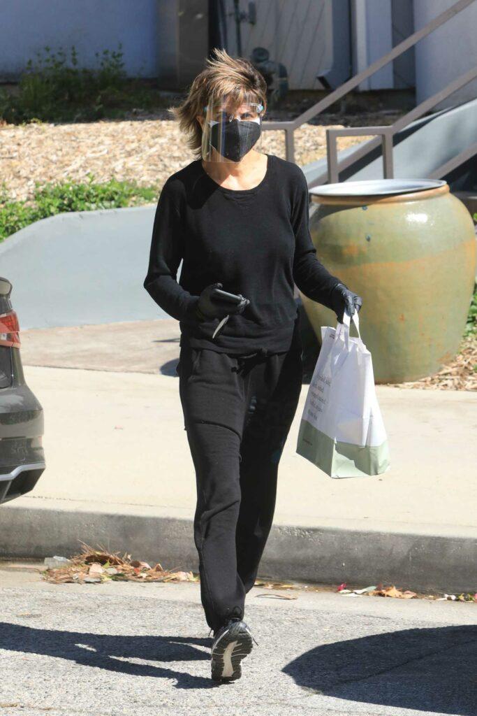 Lisa Rinna in a Black Sweatpants