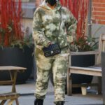 Lori Harvey in a Camo Sweatsuit Was Seen Out in Soho, New York