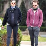 Mandy Moore in a Black Leggings Was Seen Out with Her Husband Taylor Goldsmith in Pasadena