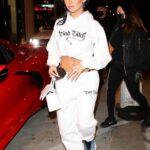 Nikita Dragun in a White Sweatshirt Leaves Catch LA in West Hollywood