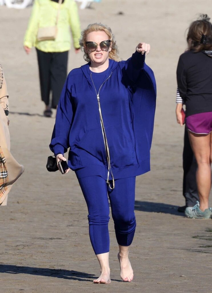 Rebel Wilson in a Blue Outfit