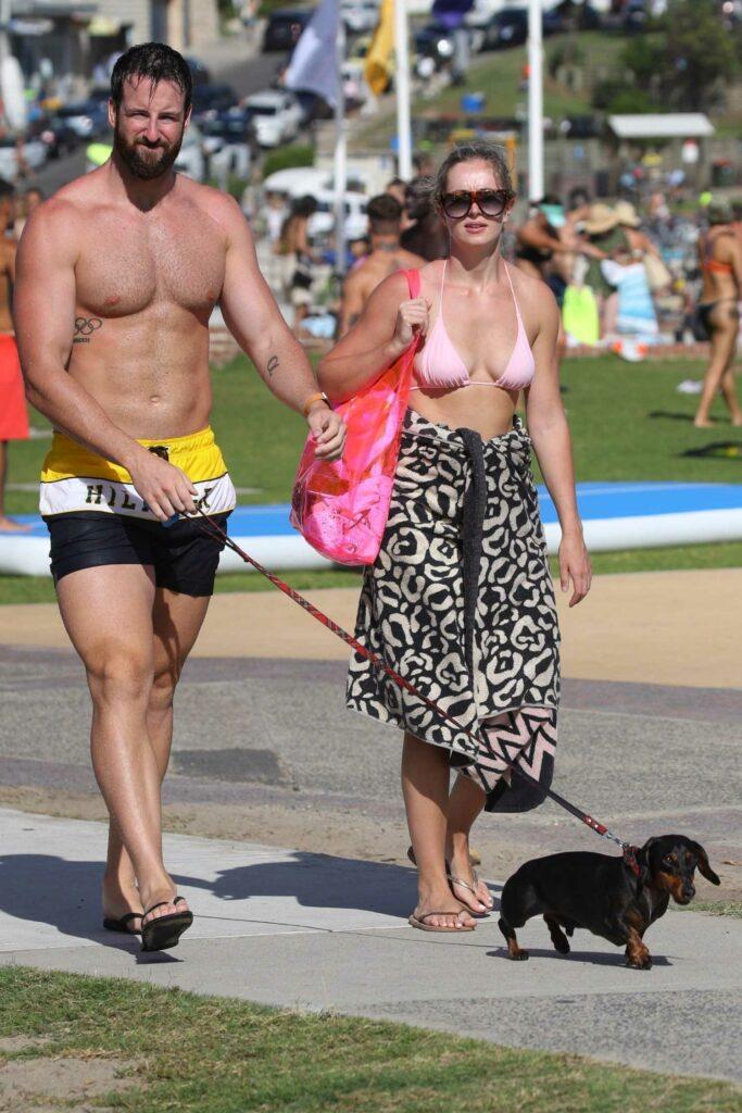 Rose McEvoy in a Pink Bikini Top