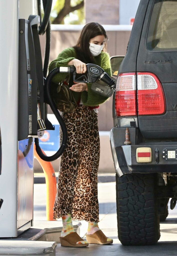Scout Willis in an Animal Print Skirt