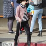 Selma Blair in a Black Hat Heads Out for Coffee in Los Angeles