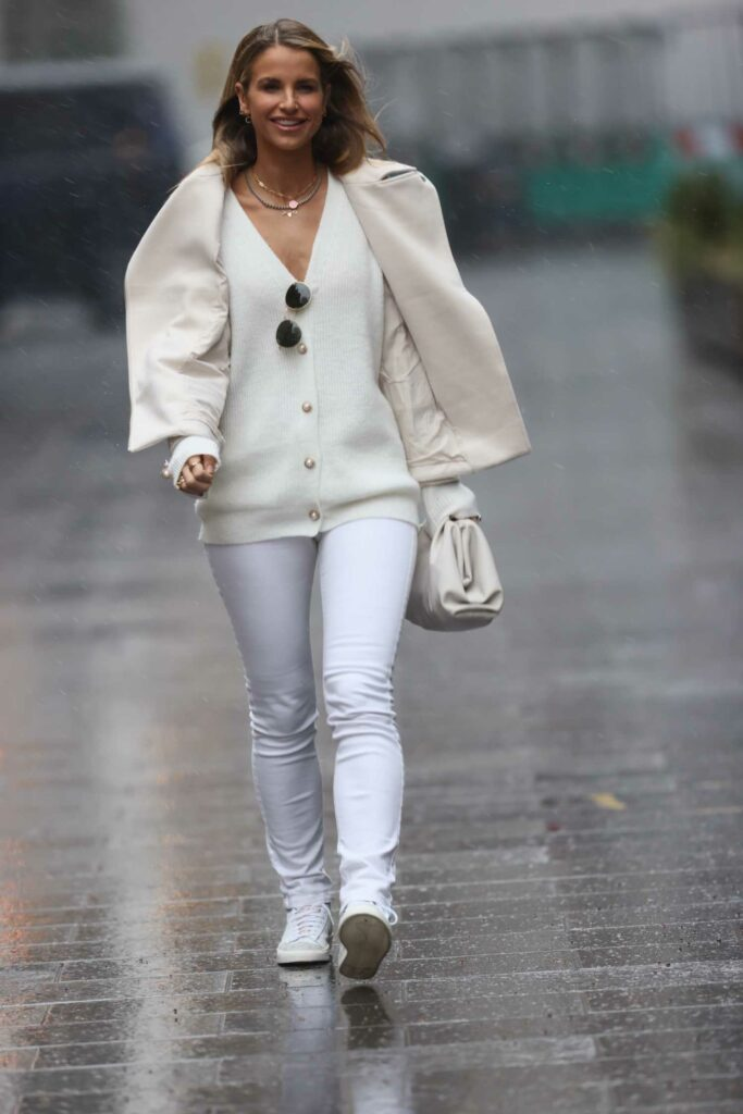 Vogue Williams in a White Pants