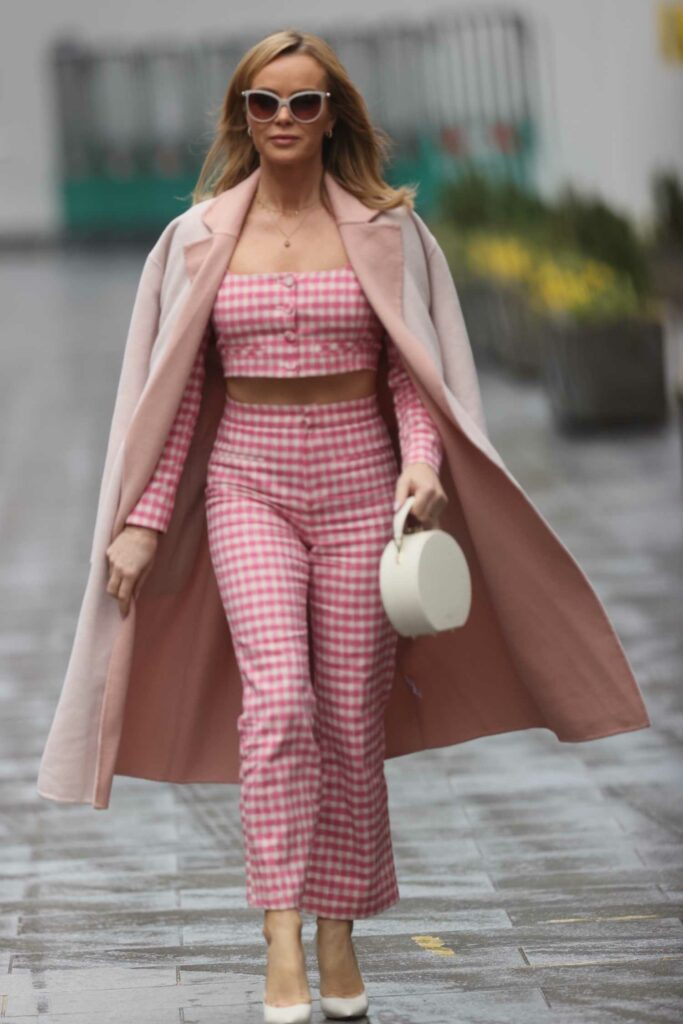 Amanda Holden in a Pink Gingham Suit