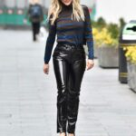 Ashley Roberts in a Black Fiorucci Trousers Leaves the Global Studios in London