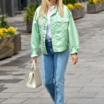 Ashley Roberts in a Neon Green Jacket Leaves the Global Studios in London