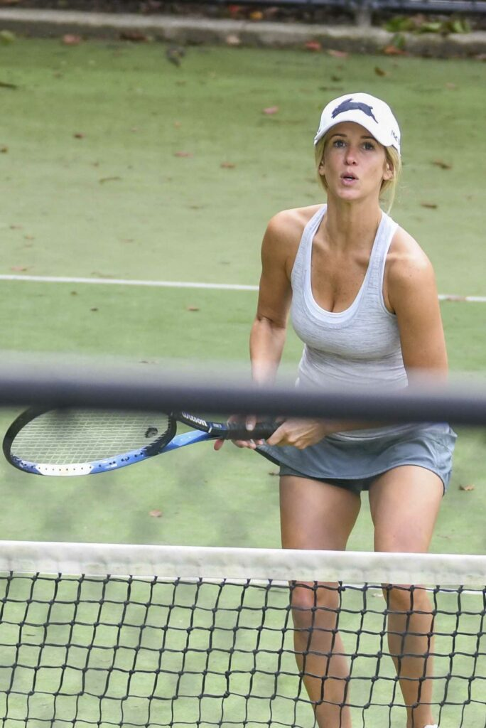 Britney Theriot in a White Cap