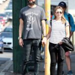 Dannii Minogue in a Striped Tee Was Seen Out with Her Boyfriend Adrian Newman in Melbourne