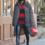 Irina Shayk in a Black Knit Hat Was Seen Out in New York
