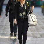 Jenni Falconer in a Black Outfit Arrives at the Global Radio Studios in London