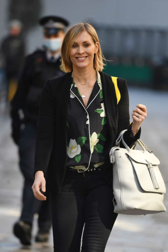 Jenni Falconer in a Black Outfit