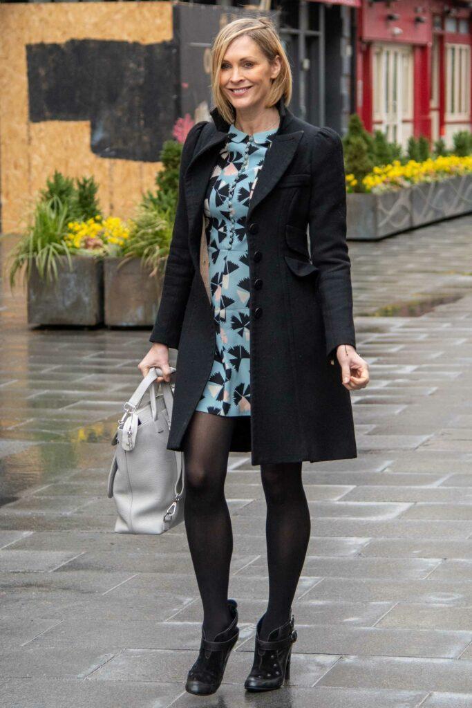 Jenni Falconer in a Blue Floral Mini Dress