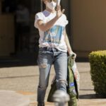 Jillian Michaels in a White Tee Was Seen Out in Calabasas