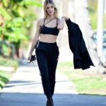 Joy Corrigan in a Black Bra Was Seen Out in Los Angeles
