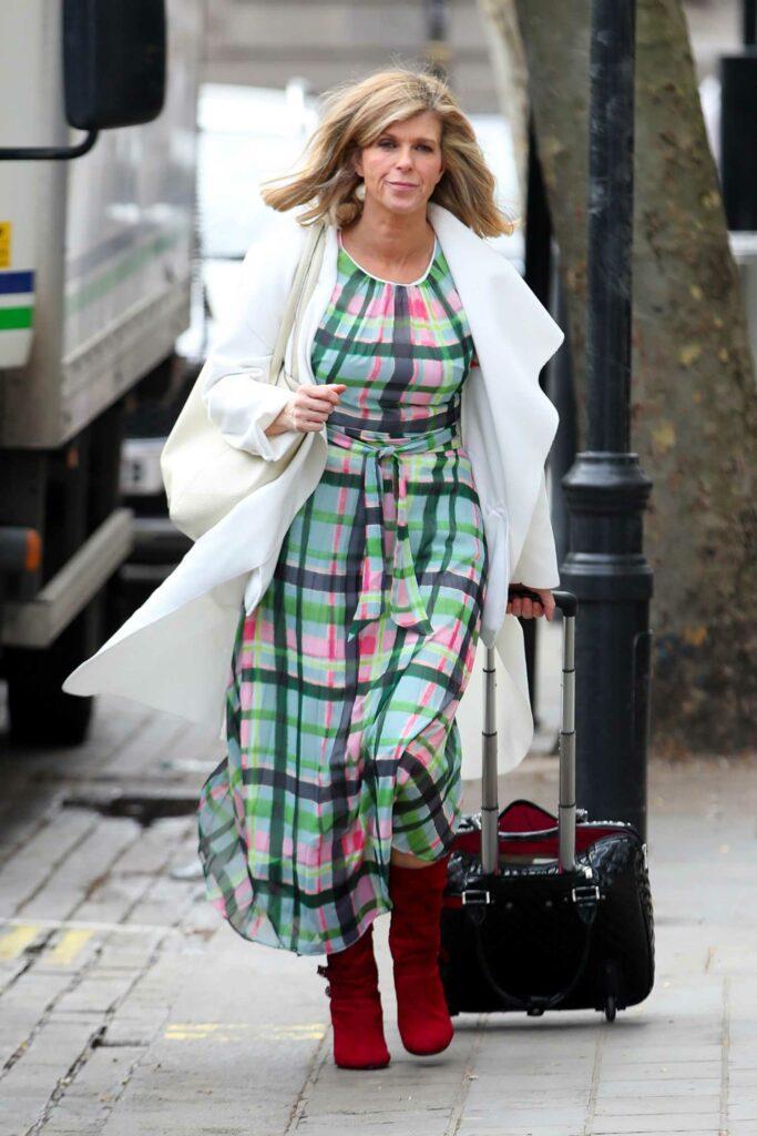 Kate Garraway in a White Cardigan