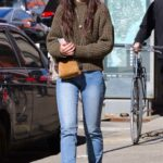 Katie Holmes in a Blue Tight Jeans Goes Shopping in NYC