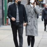 Katie Holmes in a Grey Coat Was Seen Out with Emilio Vitolo Jr. in New York