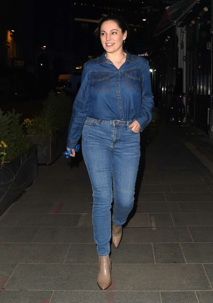 Kelly Brook in a Denim Outfit