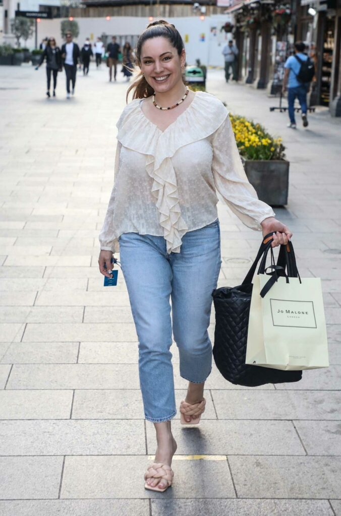 Kelly Brook in a White Blouse