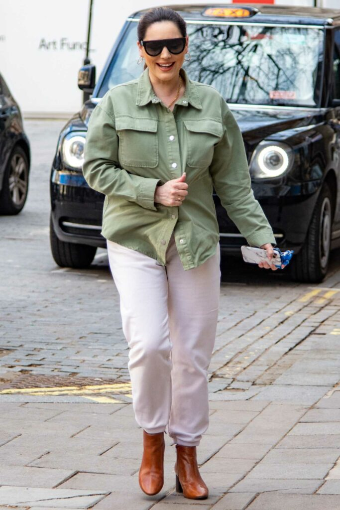 Kelly Brook in an Olive Shirt